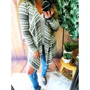 Sweaters - Light weight knitted waterfall cardigan ☕️